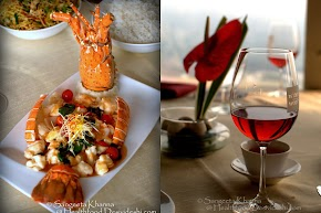 seafood promotion at the rooftop restaurant - Le Bevedere at Le Meridien and a recipe of king scallop in chilly bean sauce