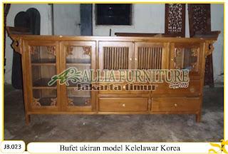 Bufet oriental ukiran model kelelawar korea