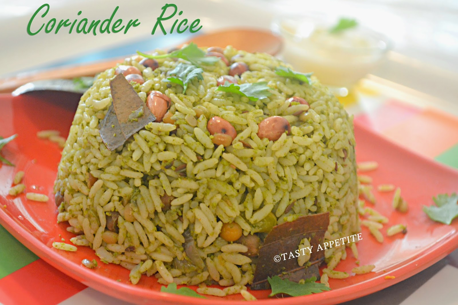Here Goes The Very Simple And Quick Rice Recipe With Fresh Coriander Leaves
