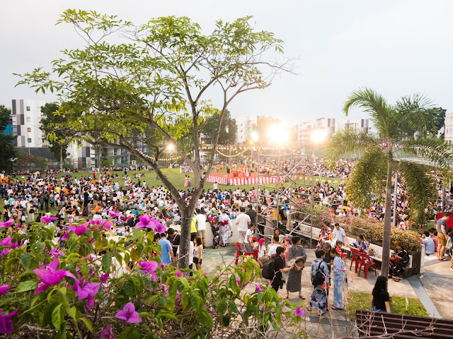 top view of the summer festival
