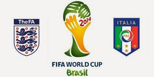 Inglaterra 1 - 2 Italia. Grupo D