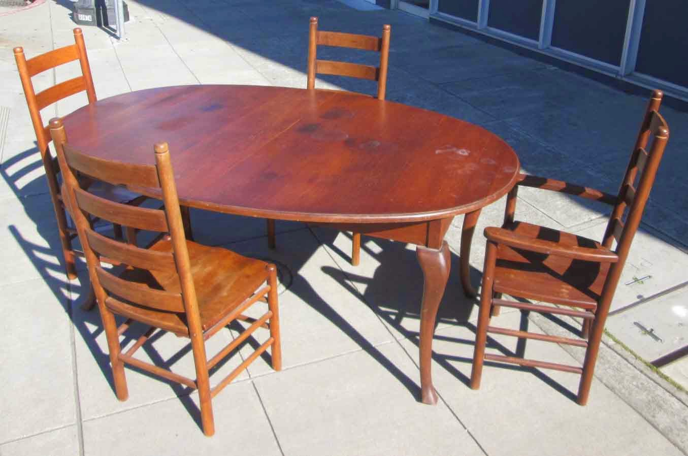 UHURU FURNITURE COLLECTIBLES SOLD Amish Cherry Dining Table With Two L