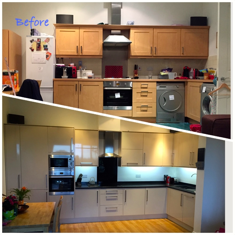 My New Kitchen Before During And After I Hart Beauty