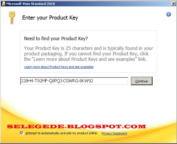 2 jika diminta serial number maka masukkan serial number ini 228h4 t92mf q8pqj cgwrg 8kw92 dan continue - Visio 2010 Product Key Crack