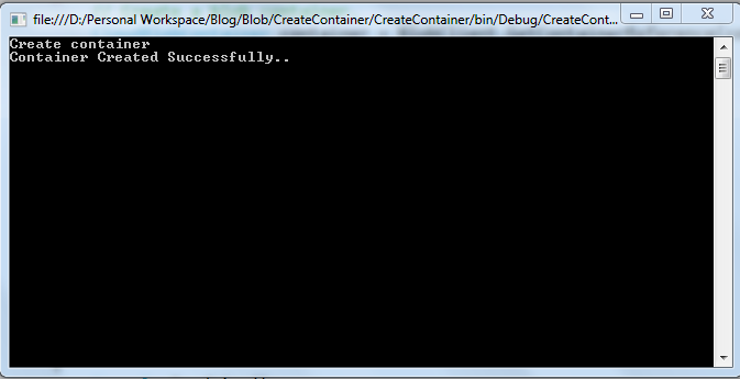 Output of Azure Blob Storage Create Container - C#.Net,VB.Net