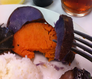 Cooked Hawaiian sweet potatoes