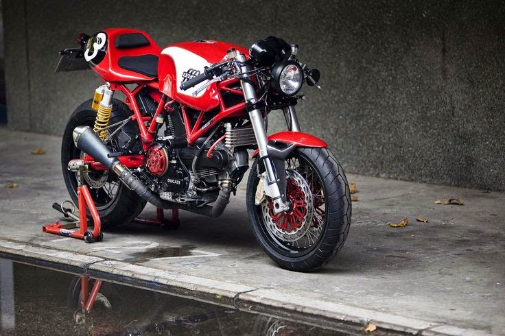 Modifikasi Ducati Sport Classic Cafe Racer
