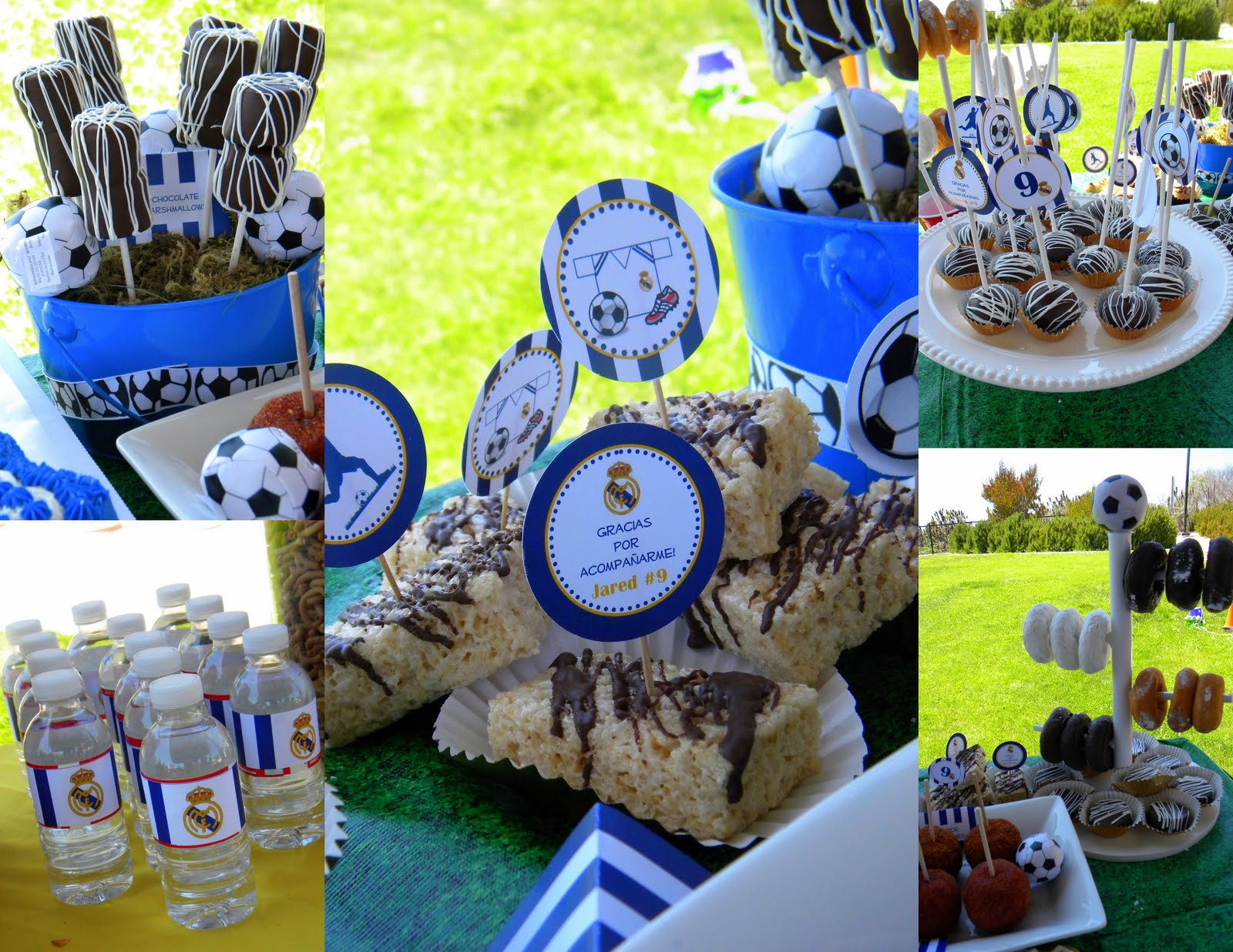 Mkr creations real madrid soccer party theme - Real madrid decorations ...