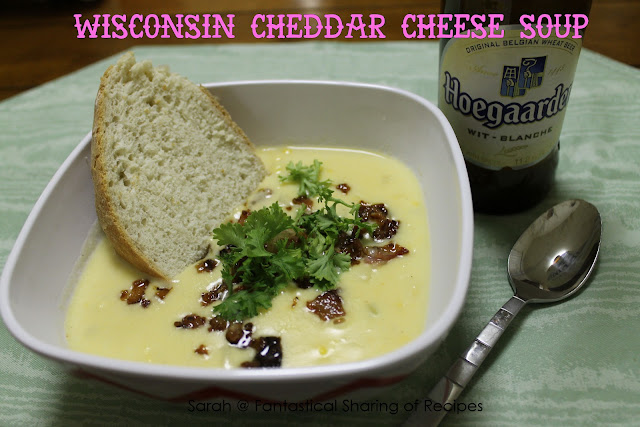 Wisconsin Cheddar Cheese Soup - a beer cheese soup that warms you to the bone! #beer #soup #cheese