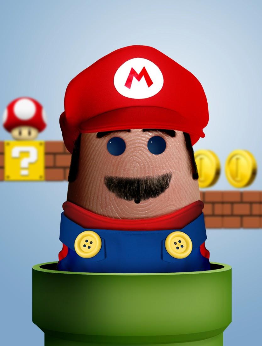 07-Mario-Bros-Dito-von-Tease-Portraits-on-a-Finger-www-designstack-co