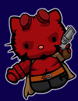 Hello Kitty in Hellboy costume