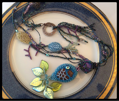 """Fresh Catch of the Day"" beaded necklace by Karen Williams"