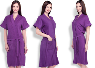 Pepperfry : Buy Sand Dune Purple Bathrobe worth Rs. 499 at Rs. 299.