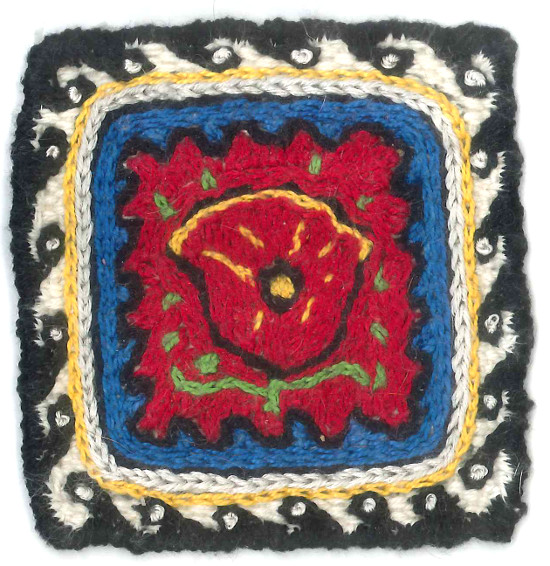 Embroidered Zoom Loom Square