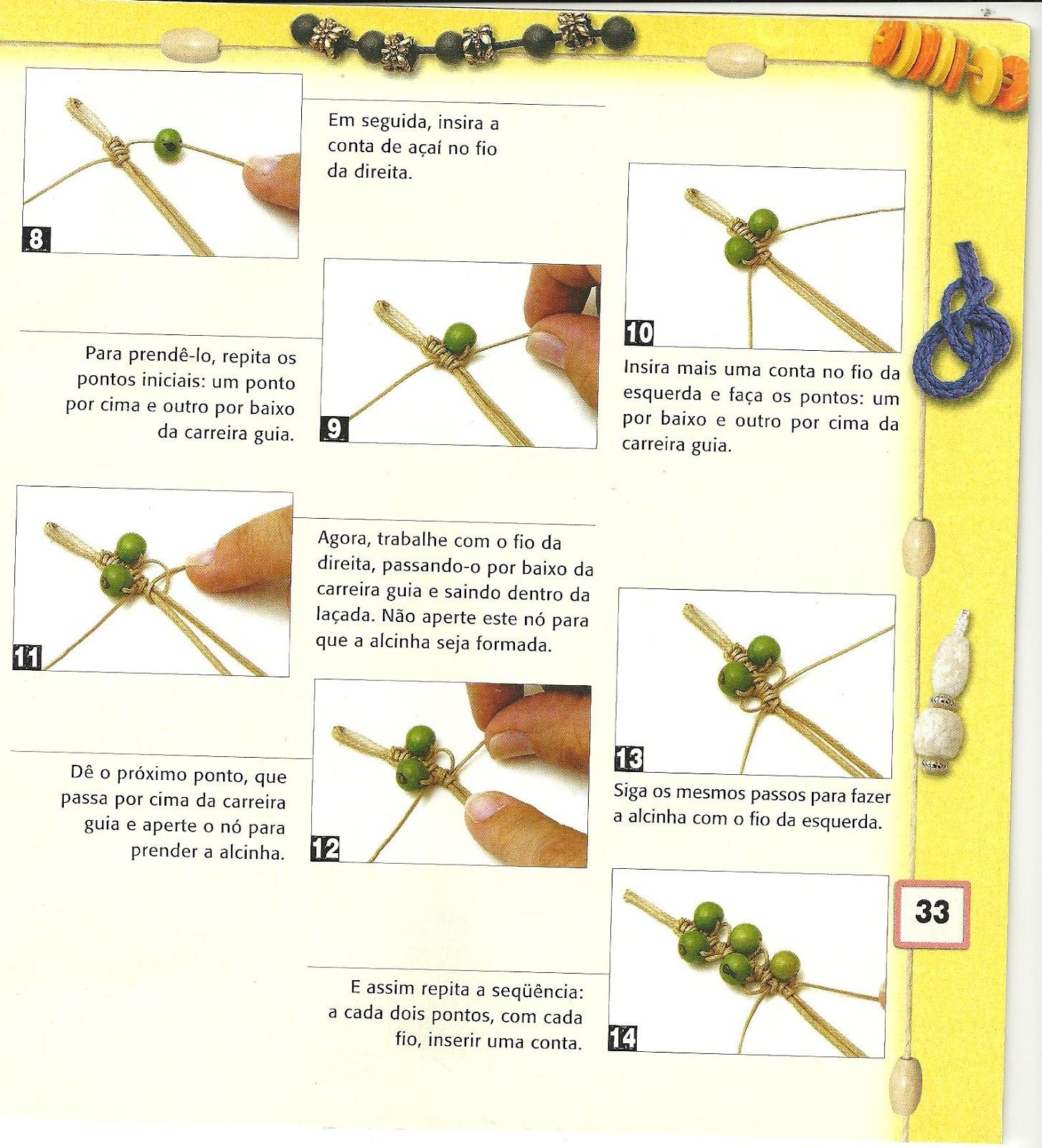Adesivo Formatura Personalizado ~ Flor de Maio Passo a passo Pulseira macramé e contas de açaí