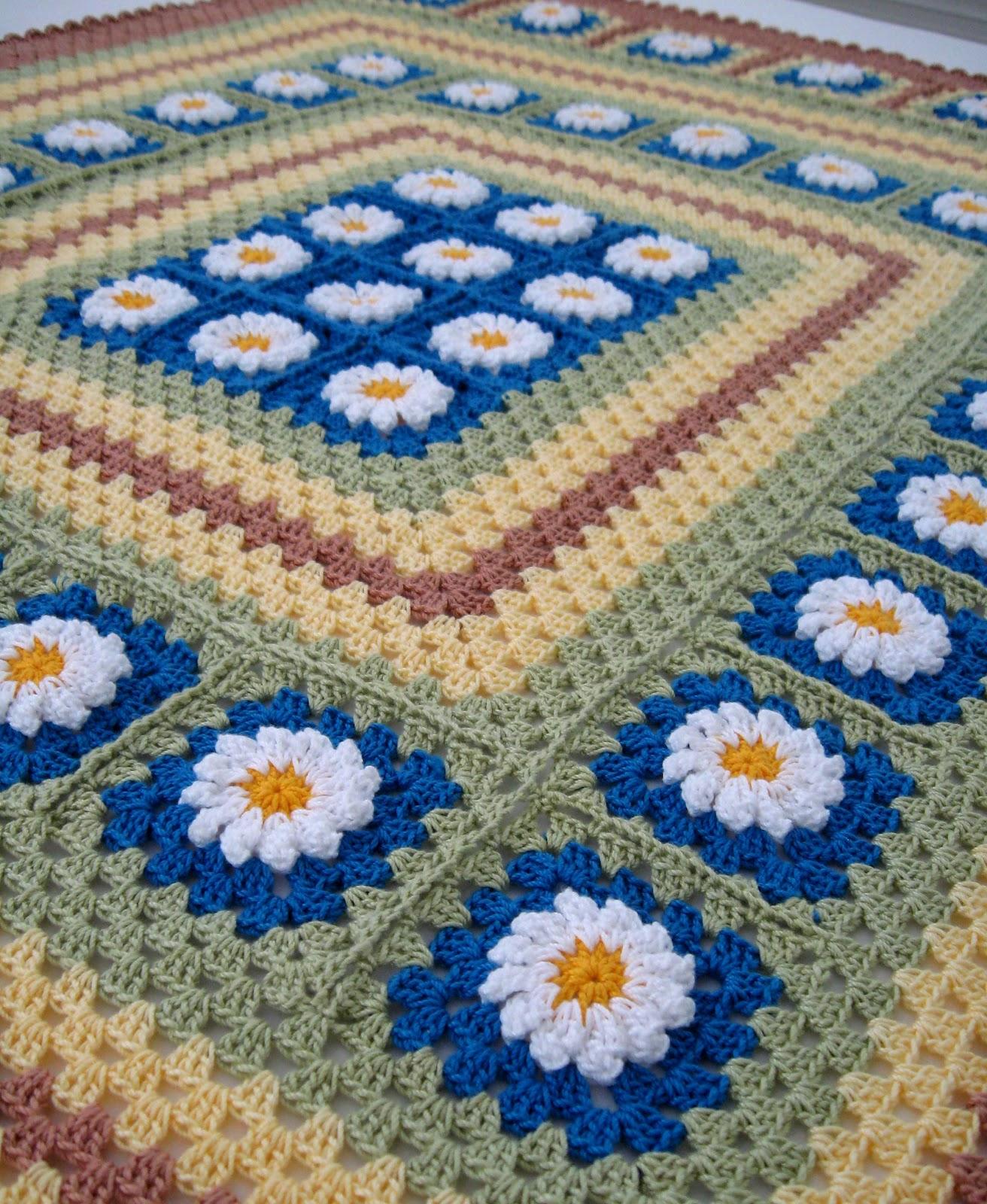 Crochet Daisy Flower Blanket Pattern : Love Crochet: July 2012