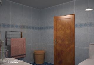 Vista de baño hacia la puerta