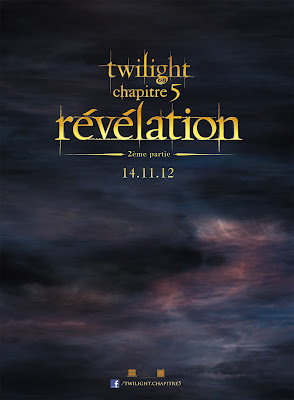 affiche teaser officielle Rvlation partie 2 ( Breaking Dawn)