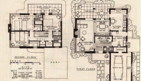 A Few More Art Deco and Art Moderne House Plans | Art Deco Resource