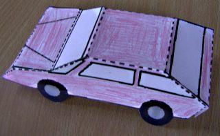 Afbeelding van de auto van papier afgewerkt