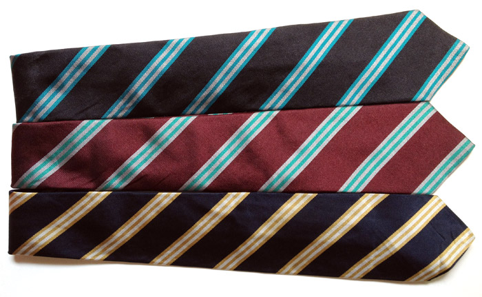 3 striped ties