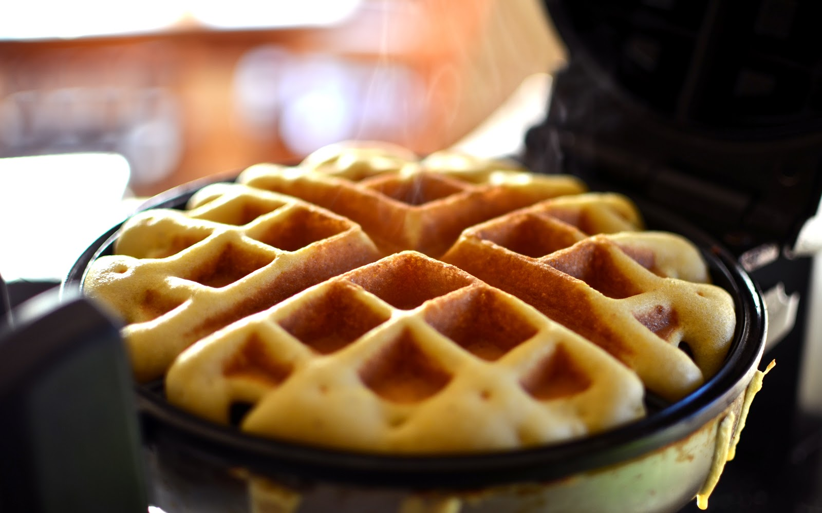 Heeeey. I made you waffles. Again. Don't be mad.