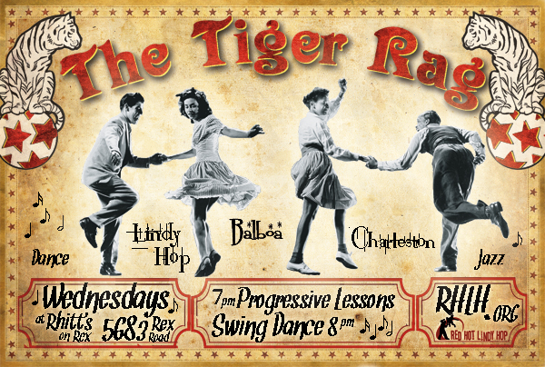 Swing Shift Shuffle Tiger Rag Wednesday And Lindy Hop Friday