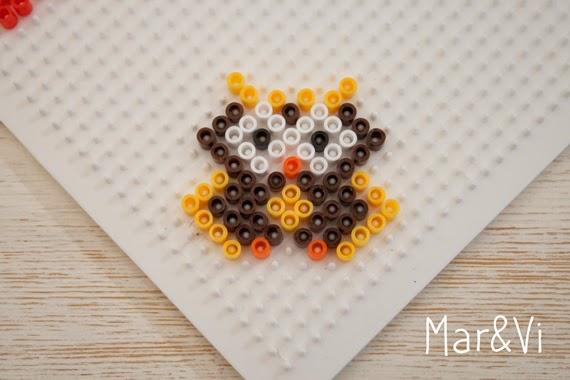 cómo hacer un búho de Hama Beads
