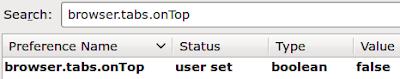 Tabovi ispod adresne trake u Firefoxu