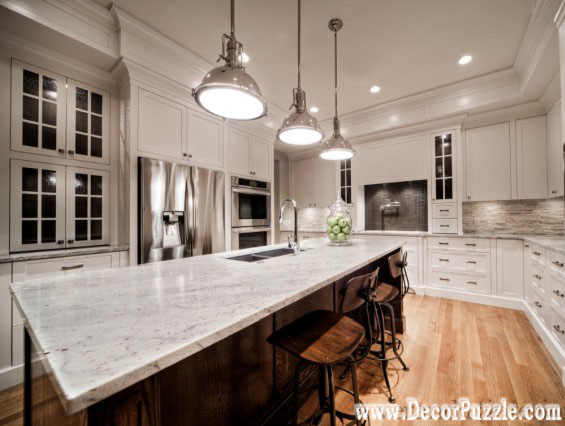 River white Granite countertops, white granite worktops, traditional kitchen style