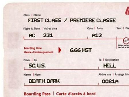 Bildresultat för ticket to hell