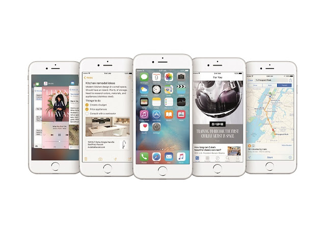 picture of iOS9 on Apple 6s devices