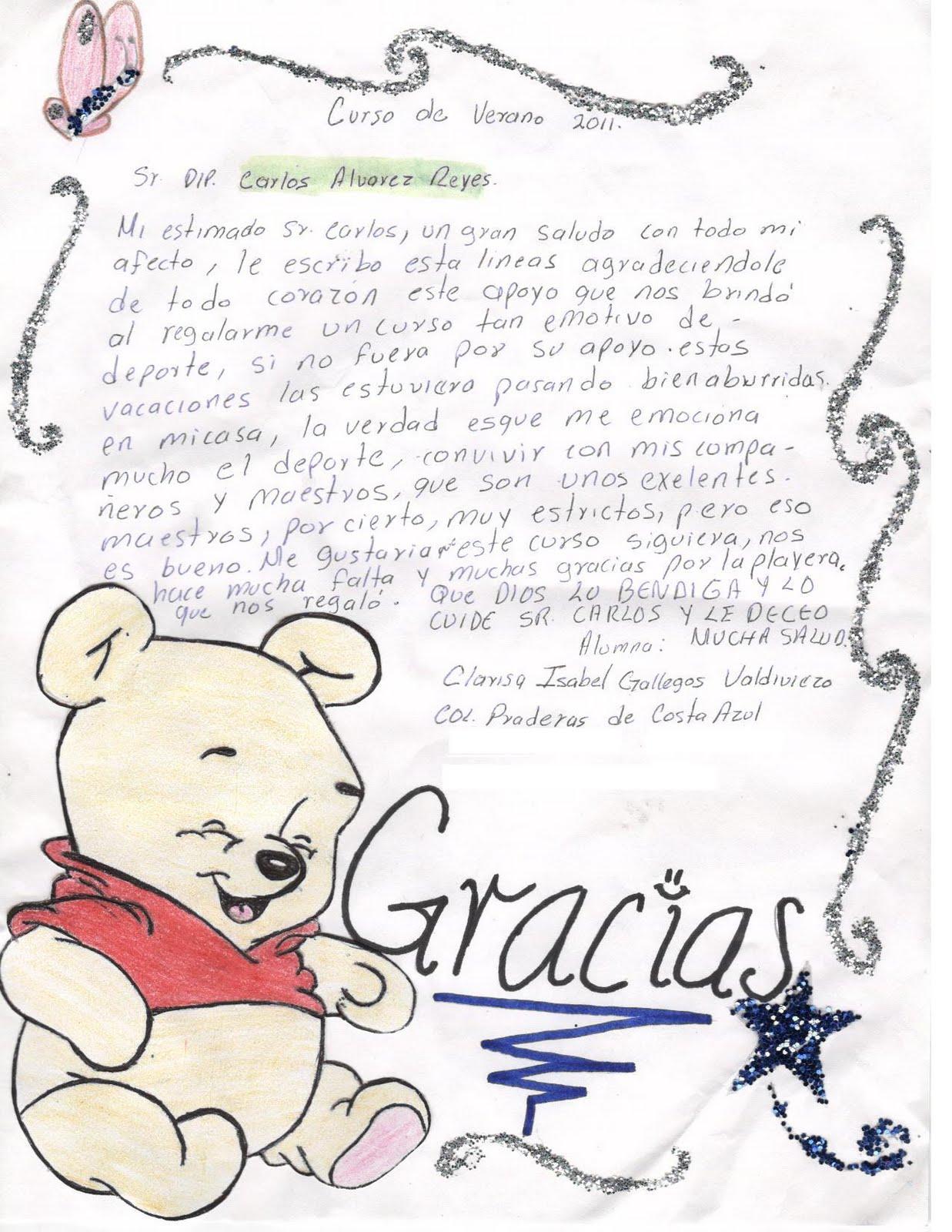 Carta De Agradecimiento Para Una Maestra