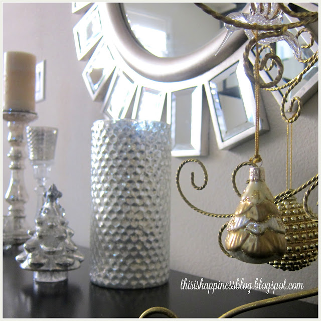 This Is Happiness Silver And Gold Vignette