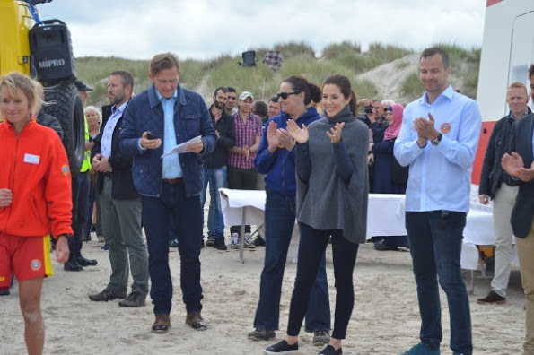 Princess Mary At The Inauguration Of New Lifesaving Post