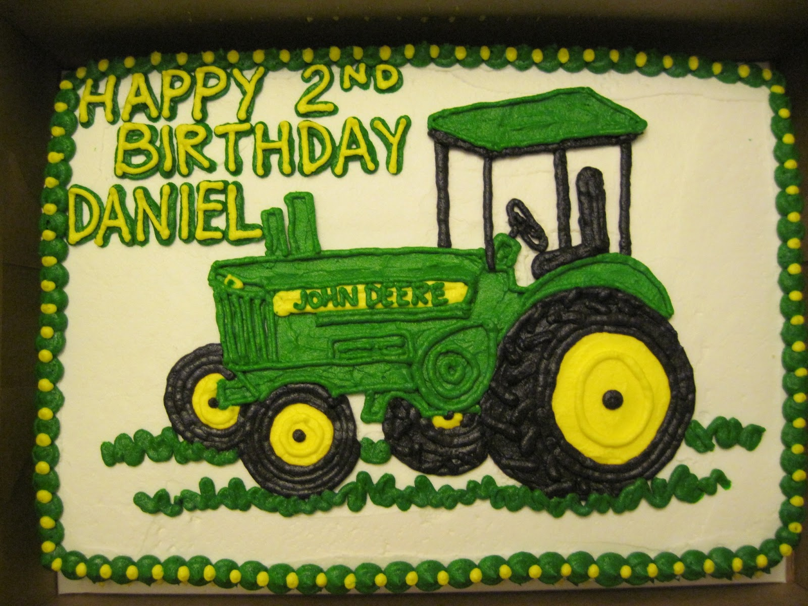 Erins Custom Cakes John Deere Tractor 2nd Birthday