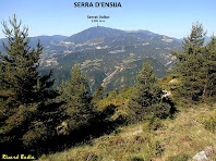 La Serra d'Ensija des de la Carena de la Baga Major. Autor: Ricard Badia