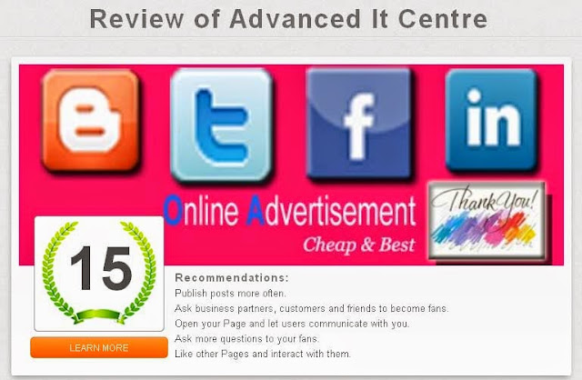 Review of my Facebook Page with Likealyzer Tool - Blogging Funda