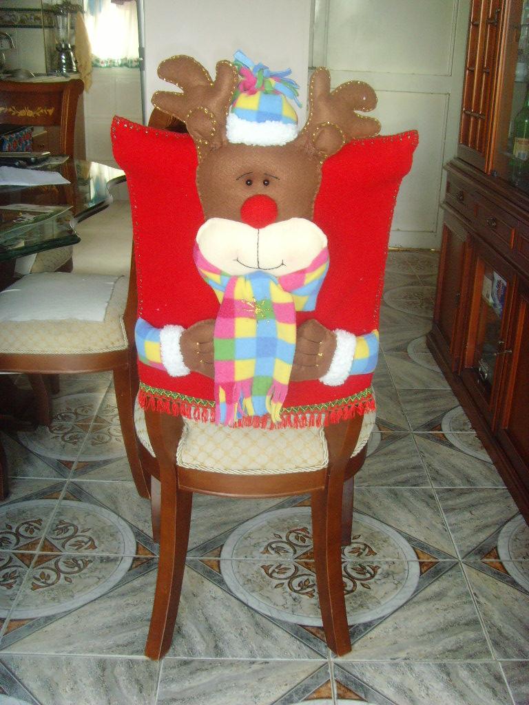 Arreglos Navideu00f1os: Espaldares para sillas de comedor