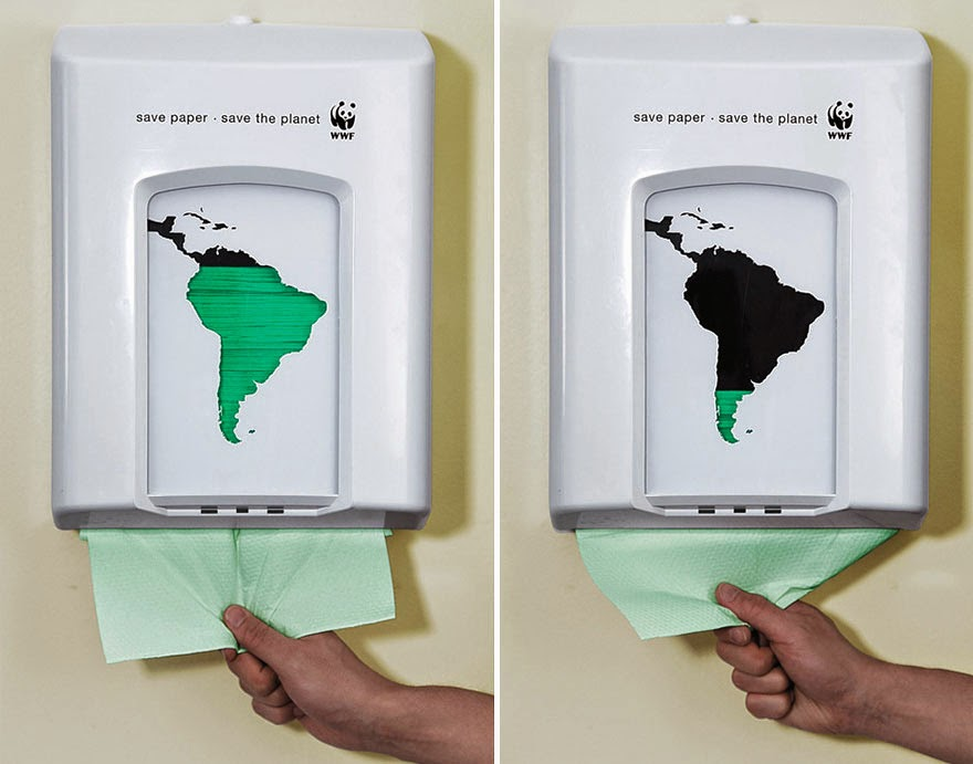 40 Of The Most Powerful Social Issue Ads That'll Make You Stop And Think - Save Paper – Save The Planet