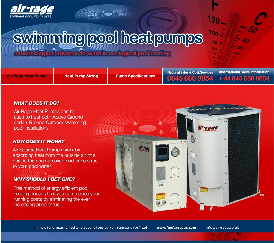 Air Rage Swimming Pool Heat Pumps Eco Heating Solutions For Outdoor Pools Up To 85 000 Litres