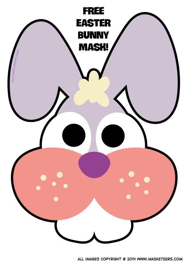 Printable easter bunny mask