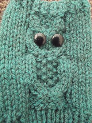Through The Keyhole: Owl Fingerless Mitts