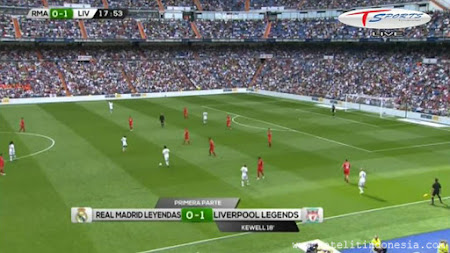 siaran TV Real Madrid Legends vs Liverpool Legends