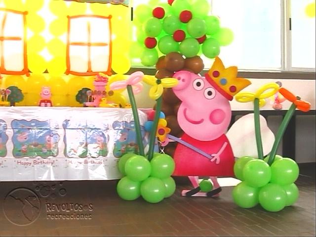 Decoracion fiesta tematica peppa pig fiestas infantiles - Fiesta infantil tematica ...