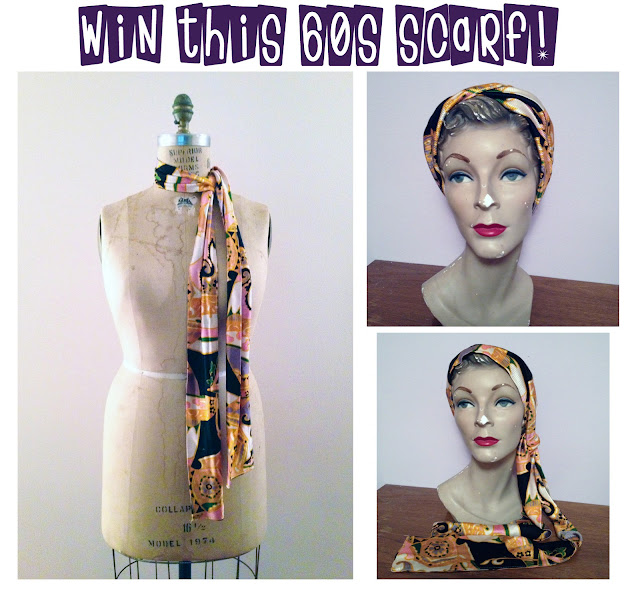 60s giveaway mad men giveaway free scarf