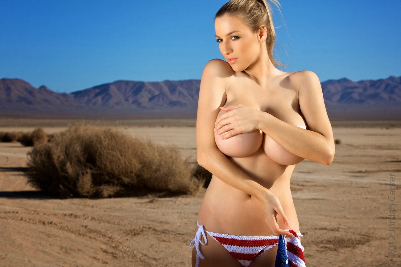 BIG BOOBS JORDAN CARVER: Jordan Carver Topless in U.S Flag ...