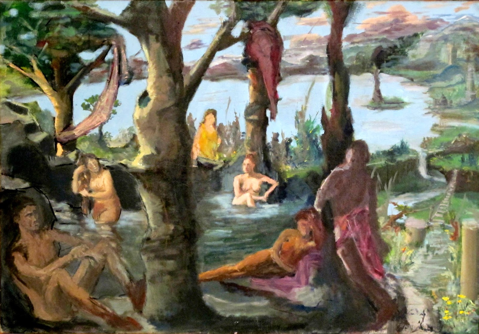 """Arcadian Bathers"" by David C. Forsyth"