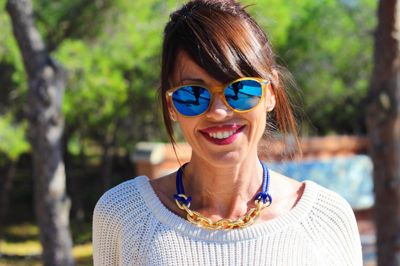 Gafas Life espejadas- Collar Cuchicuchi