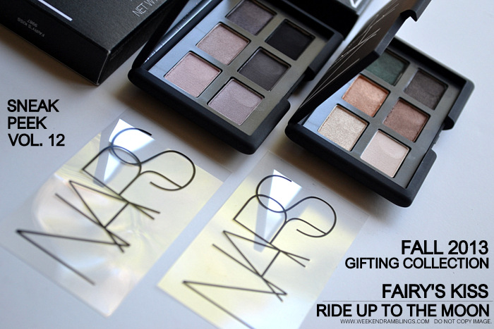 NARS Fairys Kiss - Ride Up to The Moon Eyeshadow Palettes - Fall 2013 Gifting Collection - Photos Swatches